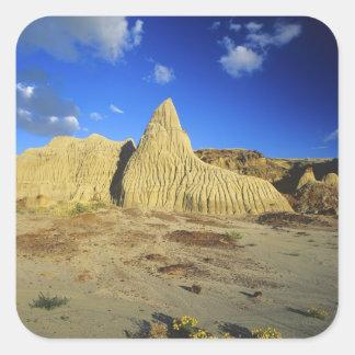 Badlands formations at Dinosaur Provincial Park 7 Square Sticker