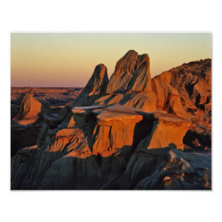 Badlands in Theodore Roosevelt National Park Poster