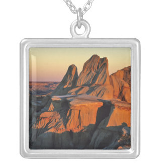 Badlands in Theodore Roosevelt National Park Silver Plated Necklace