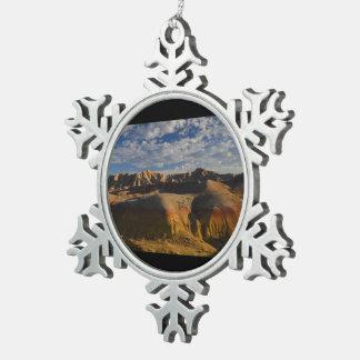 Badlands National Park Pewter Snowflake Decoration