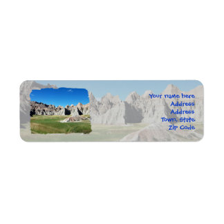 Badlands Return Address Label