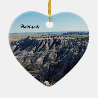 Badlands, South Dakota Ceramic Heart Decoration