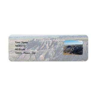 Badlands, South Dakota Return Address Label