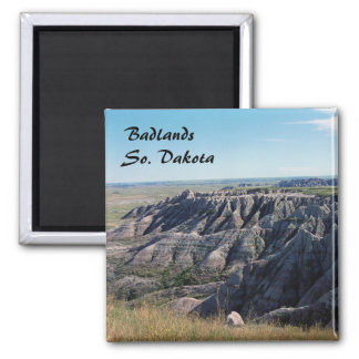 Badlands, South Dakota Square Magnet