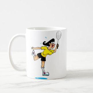 Badmington Man and Woman Coffee Mug