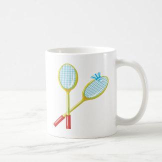 Badminton 3 coffee mug