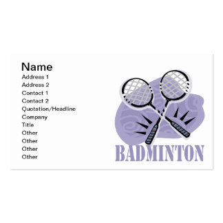 Badminton 5 pack of standard business cards