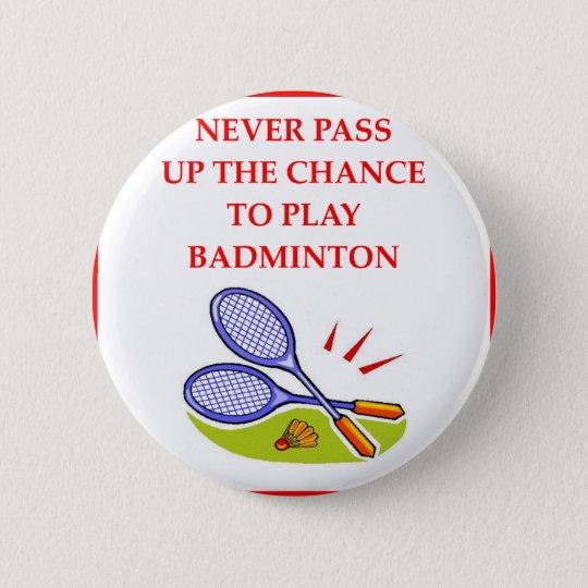 BADMINTON 6 CM ROUND BADGE