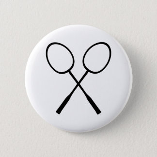 Badminton 6 Cm Round Badge
