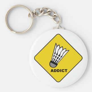 Badminton Addict Key Ring