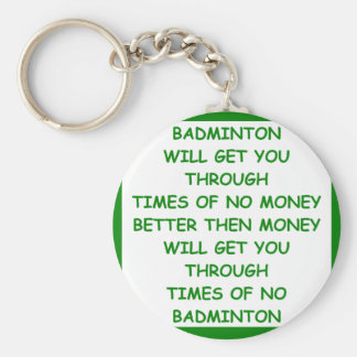 BADMINTON BASIC ROUND BUTTON KEY RING