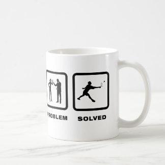 Badminton Basic White Mug