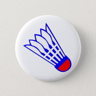 Badminton Birdie 6 Cm Round Badge