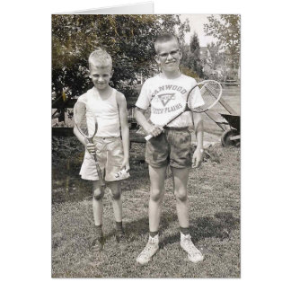 Badminton brothers from the 60's card