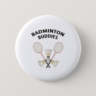 Badminton Buddies 6 Cm Round Badge