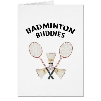 Badminton Buddies Card