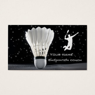 Badminton business card