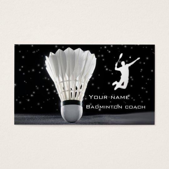Badminton business card