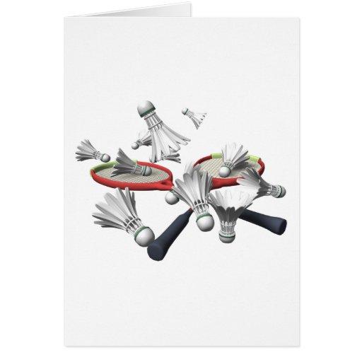Badminton Greeting Card