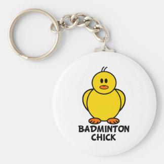 Badminton Chick Key Chain