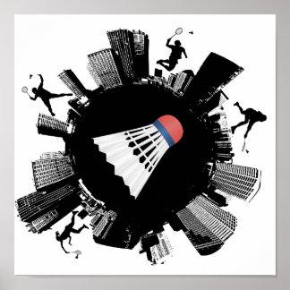 Badminton City Poster