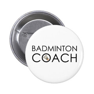 Badminton Coach 6 Cm Round Badge