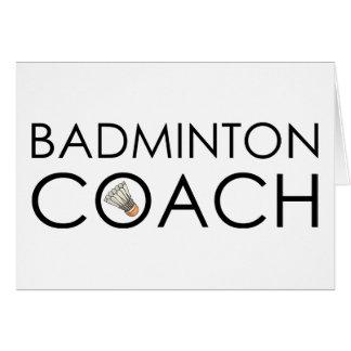 Badminton Coach Card