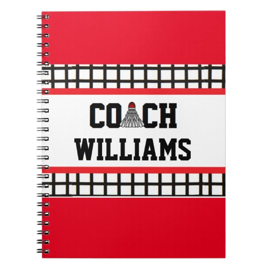 Badminton Coach - Personalised Spiral Notebook