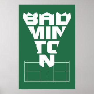Badminton Court Poster 2