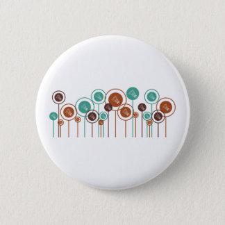 Badminton Daisies 6 Cm Round Badge