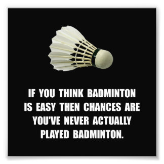Badminton Easy Photographic Print