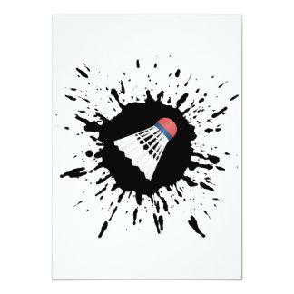 Badminton Explosion 13 Cm X 18 Cm Invitation Card
