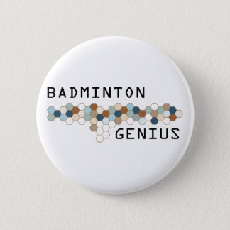 Badminton Genius 6 Cm Round Badge