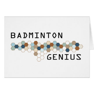Badminton Genius Card