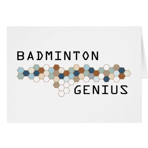 Badminton Genius Greeting Card