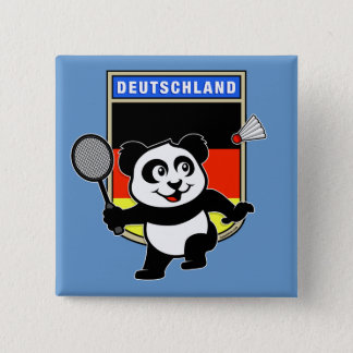 Badminton Germany Panda 15 Cm Square Badge