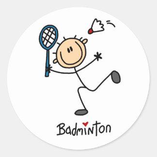 Badminton Gift Round Stickers