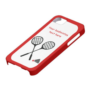 Badminton gifts, racquet and shuttlecock custom barely there iPhone 5 case