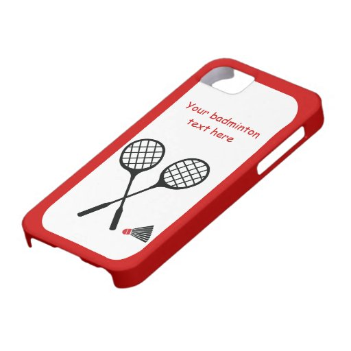 Badminton gifts, racquet and shuttlecock custom iPhone 5 cover
