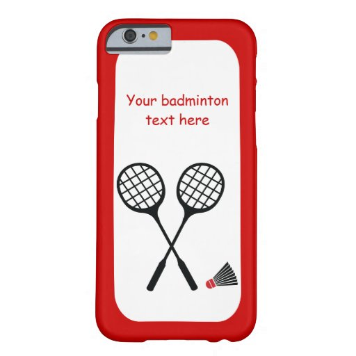 Badminton gifts, racquet and shuttlecock custom barely there iPhone 6 case