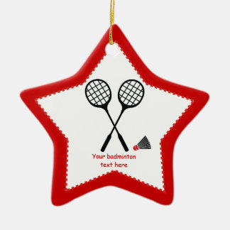 Badminton gifts, racquet and shuttlecock custom christmas ornament