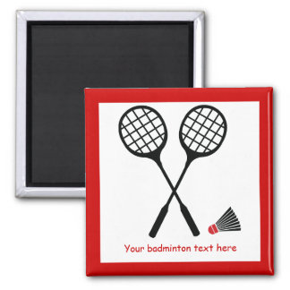 Badminton gifts, racquet and shuttlecock custom magnet