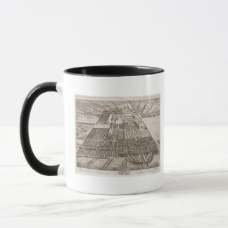 Badminton House in the County of Gloucester, engra Mug