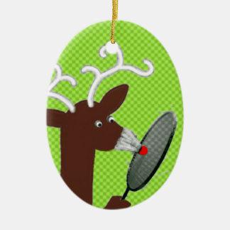 badminton humor christmas ornament