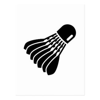 Badminton icon post cards