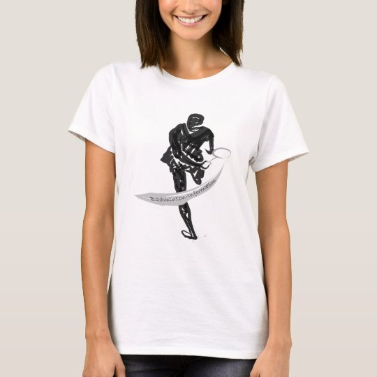 Badminton-Information Gold T-shirt Women