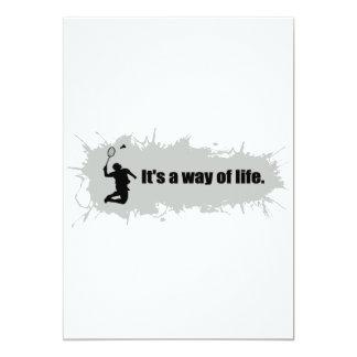 Badminton Is a Way of Life 13 Cm X 18 Cm Invitation Card