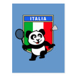 Badminton Italy Panda Postcards