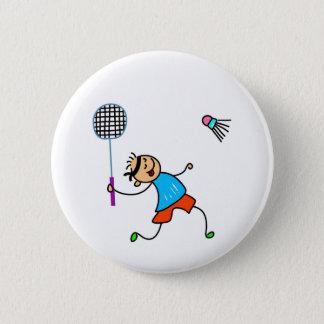 Badminton Kid 6 Cm Round Badge