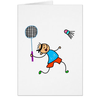 Badminton Kid Card